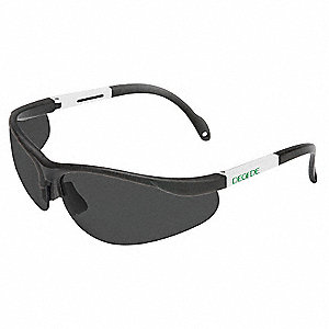 Decade Bio  SS Scratch-Resistant Safety Glasses, Gray Lens Color