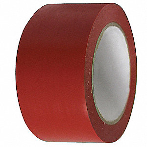 "Floor Marking Tape, Solid, Continuous Roll, 2"" Width, 1 EA"