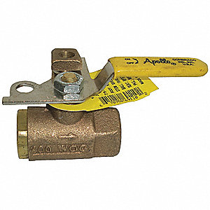 Bronze Ball Valve,Inline,FNPT,2 in