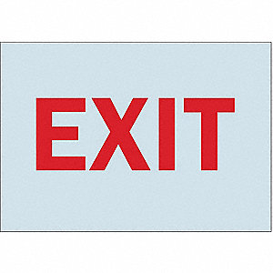 Exit Sign,7 x 10In,R/GRA,Exit,ENG,Text