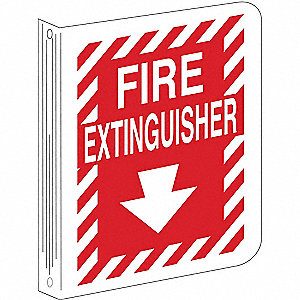 "Fire Equipment, No Header, Plastic, 12"" x 9"", With Mounting Holes, Not Retroreflective"