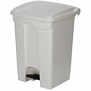 Fire-Resistant Trash Can,White