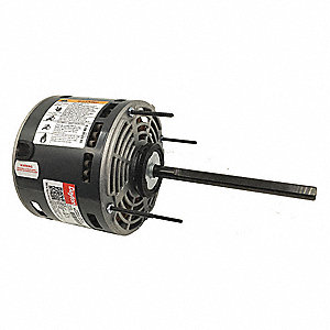 1/6 HP Direct Drive Blower Motor, Permanent Split Capacitor, 1075 Nameplate RPM, 277 Voltage