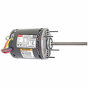 1 HP Direct Drive Blower Motor, Permanent Split Capacitor, 1075 Nameplate RPM, 277 Voltage