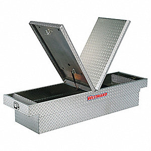 Aluminum Crossover Truck Box, Silver, Mid, 9.3 cu. ft.
