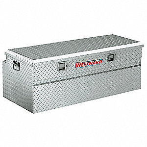 Aluminum Truck Box Chest, Silver, Single, 9.9 cu. ft.