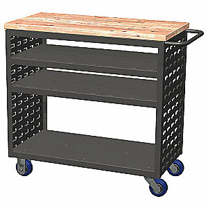 Louvered Cart,37x18x36 In.,800 lb. Cap.