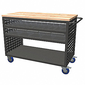 "37-1/2""H x 24""W Steel Louvered Cart, 800 lb. Load Capacity, Total Number of Bins: 32"