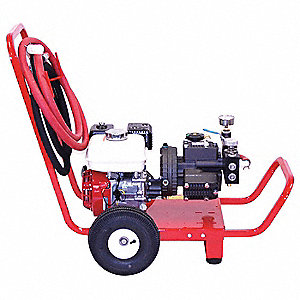 Honda Hydrostatic Test Pump, Triple Diaphragm, Positive Displacement, 5-1/2 HP, 10 GPM, 500 psi