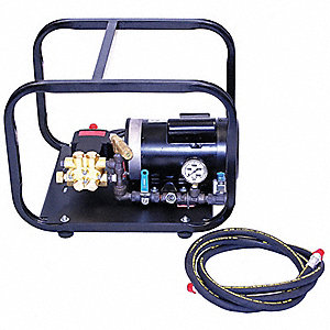 Hydrostatic Test Pump, Electric, Twin Piston, Positive Displacement, 1 HP, 1 GPM, 1000 psi