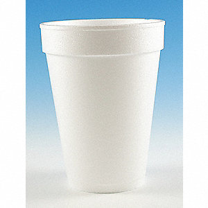 14 oz. Disposable Cold/Hot Cup, Foam, White, PK 1000