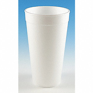20 oz. Disposable Cold/Hot Cup, Foam, White, PK 500