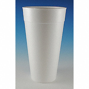 42 oz. Foam Disposable Cold/Hot Cup, White, 250 PK