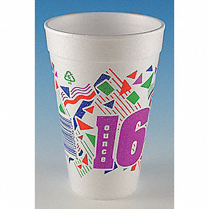 Disp. Cold/Hot Cup,16 oz.,White,PK500