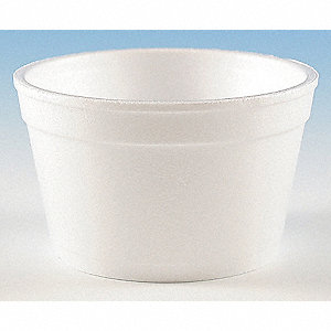 "2-1/8"" Polystyrene Carry-Out Soup Container, White&#x3b; PK1000"