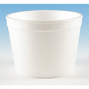 "2-7/8"" Polystyrene Carry-Out Soup Container, White; PK500"