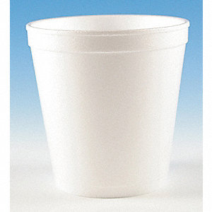 "4"" Polystyrene Disposable Container, White&#x3b; PK500"
