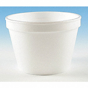 "3 1/8"" Polystyrene Disposable Container, White&#x3b; PK500"