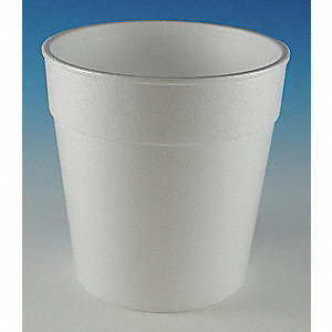 "5"" Polystyrene Disposable Container, White&#x3b; PK500"