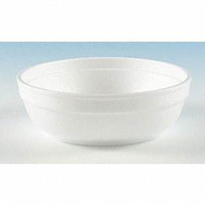 5 oz. Disposable Polystyrene Bowl, White&#x3b; PK1000