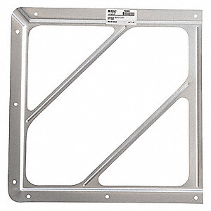"10-4/5"" x 10-4/5"" Aluminum Front Plate Placard Holder"