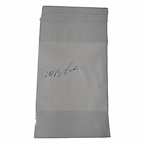 "6""L x 4""W Standard Reclosable Poly Bag with Zip Seal Closure, Clear; 4 mil Thickness"