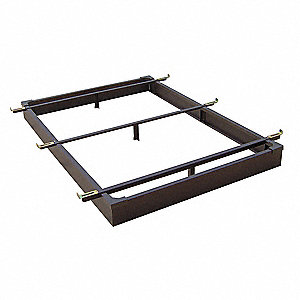 "72"" x 76"" x 10"" King Bed Base with 500 lb. Weight Capacity, Java Brown"
