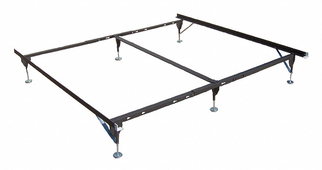 70 in x 38 in to 76 in x 7 in to 11 in Twin to King/CA King Bed Frame with 500 lb Weight Capacity, B