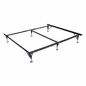 "70"" x 38"" to 76"" x 7"" to 11"" Twin to King/CA King Bed Frame with 500 lb. Weight Capacity, Brown"