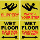 Slippery Wet Floor Please Walk To The Right, Slippery, Wet Floor Please Walk To The Left,  Watch Your Step Signs