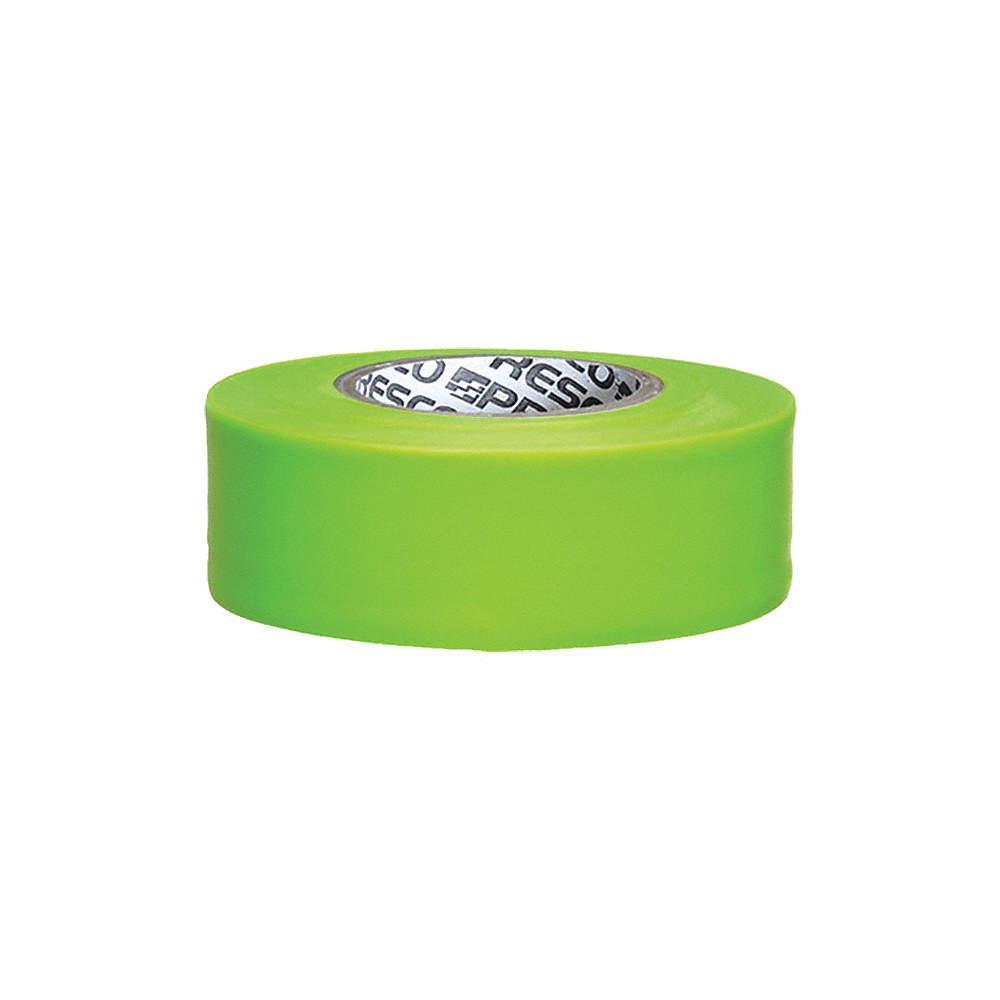 PRESCO PRODUCTS CO TFLG-200 Taffeta Flagging Tape,Lime Glo,150 ft