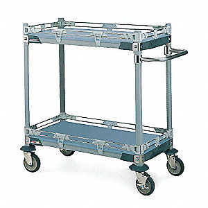 Utility Chemical Cart,Polymer,18W x 36L