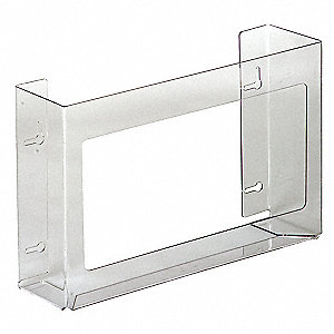 "Horizontal Glove Dispenser, Clear, PETG, Holds: (3) Boxes, 15-3/4"" Width"