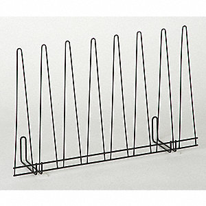 Glove Drying Rack, Silver, Powder Coated Steel, Holds: (4) Pairs of Gloves
