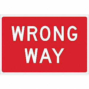 Traffic Sign,24 x 36In,WHT/R,ENGR GR AL