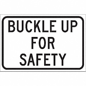 "Traffic Sign,12""H,18""W,Aluminum"