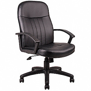 Executive Chair,Leather,Black