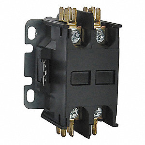 24VAC Open Definite Purpose Contactor, 20 Full Load Amps-Inductive, 2 Number of Poles