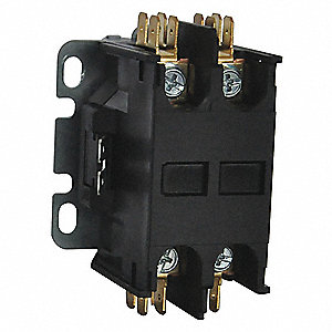 208/240VAC Definite Purpose Contactor; No. of Poles 2, Reversing: No, 25 Full Load Amps-Inductive