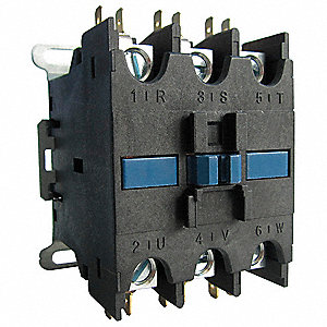 120VAC Open Definite Purpose Contactor, 40 Full Load Amps-Inductive, 3 Number of Poles