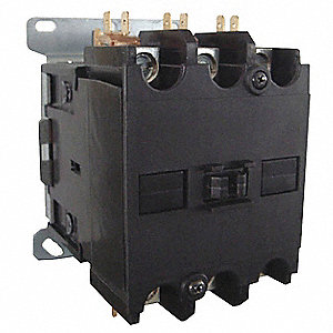 120VAC Definite Purpose Contactor; No. of Poles 3, Reversing: No, 90 Full Load Amps-Inductive