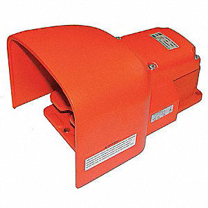 Two Stage Heavy Duty Foot Switch,Orange
