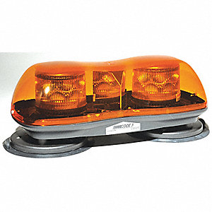 Lightbar,LED,Ambr,Mag/Suction,16-1/2 In