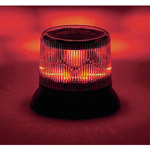 Dual Level Strobe Light, Red, Rotating