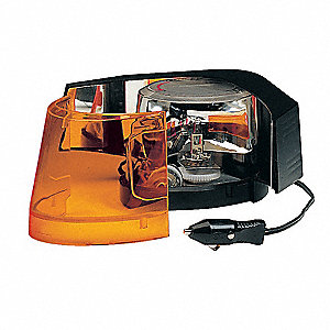 Dash/Deck Light,Halogen,Amber,3-3/4 Dia