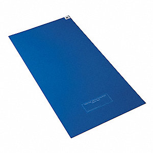 Tacky Mat,Blue,36 x 45 In,PK4