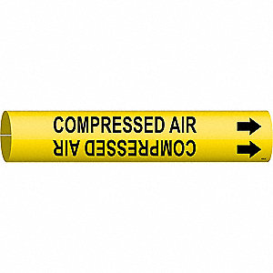 Pipe Mrkr,Compressed Air,1-1/2to2-3/8 In