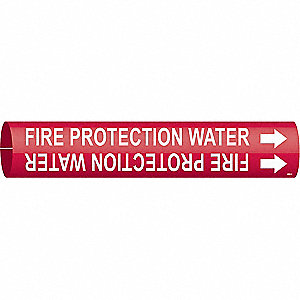 Pipe Marker,Fire Protection Water,Red