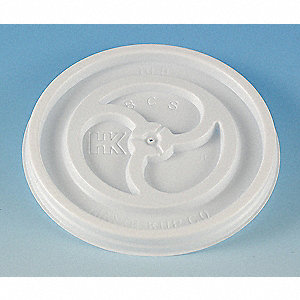 Hot Cup Lid,Flat,8 to 10 fl. oz.,PK1000