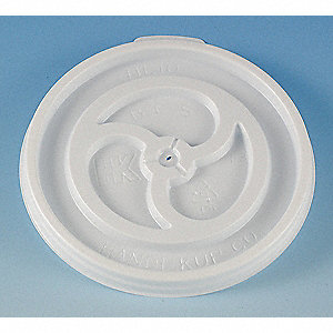 DISPOSABLE LID,VENTED,WHITE,PK 1000
